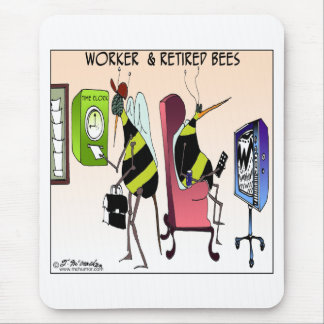 Worker and Retired Bee Mouse Mat