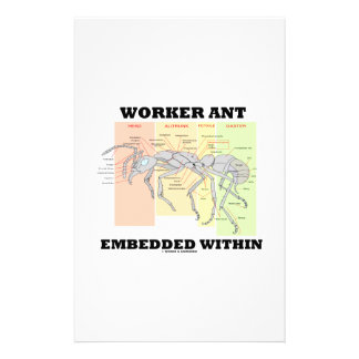 Worker Ant Embedded Within Ant Worker Morphology Personalised Stationery