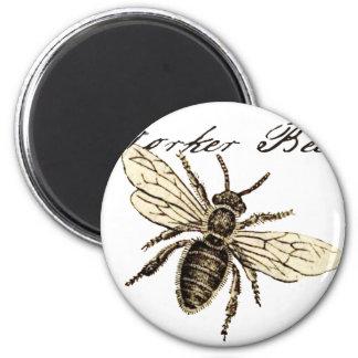 Worker Bee 6 Cm Round Magnet