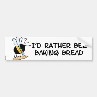 worker bee - baker bumper sticker