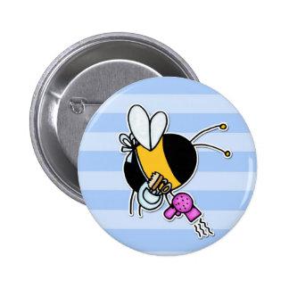 worker bee - hairdresser buttons