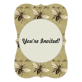 Worker Bee 5x7 Paper Invitation Card