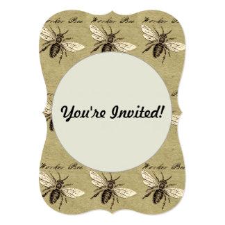 Worker Bee 13 Cm X 18 Cm Invitation Card