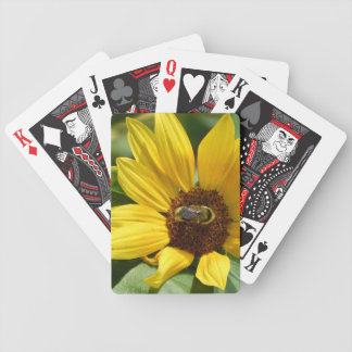 Worker Bee on Sunflower Bicycle Playing Cards
