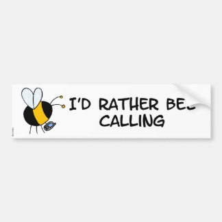 worker bee - phone sales bumper sticker
