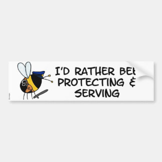 worker bee - police officer bumper stickers