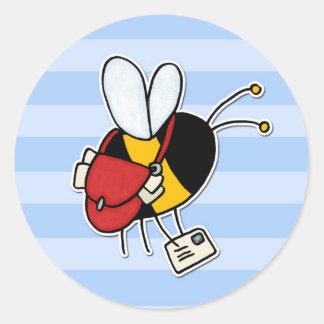 worker bee - postal worker classic round sticker
