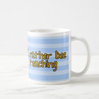 worker bee - teacher basic white mug