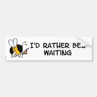 worker bee - waitress bumpersticker car bumper sticker