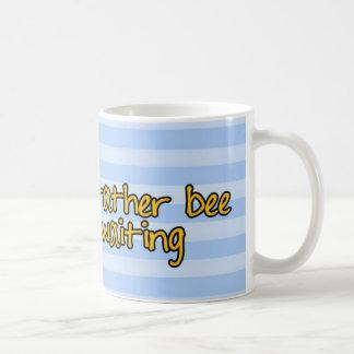 worker bee - waitress basic white mug