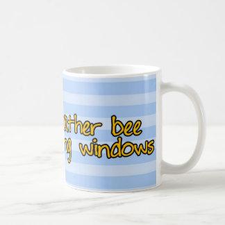 worker bee - window cleaner basic white mug