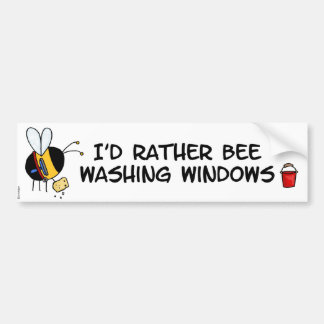 worker bee - window cleaner bumper sticker