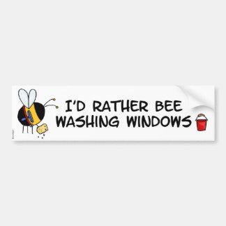 worker bee - window cleaner bumper stickers
