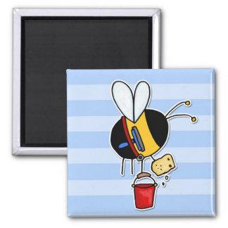 worker bee - window cleaner magnet