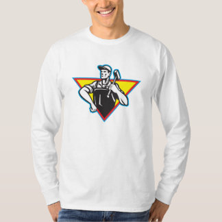 Worker With Hammer Retro T-Shirt