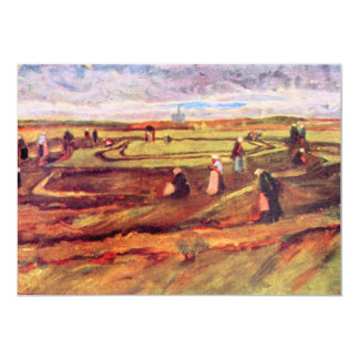 Workers by Vincent van Gogh 13 Cm X 18 Cm Invitation Card