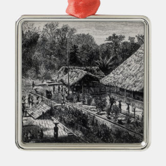 Workers on a Coffee Plantation Christmas Ornament