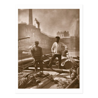 Workers on the 'Silent Highway', from 'Street Life Postcard