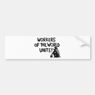 WORKERS THE WORLD UNITE GRAFFITI SPRAY-PAINTING MO BUMPER STICKERS