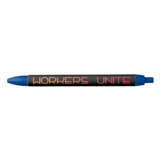 Workers Unite Blue Ink Pen