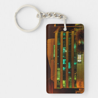 Working at an inconvenient time Double-Sided rectangular acrylic key ring