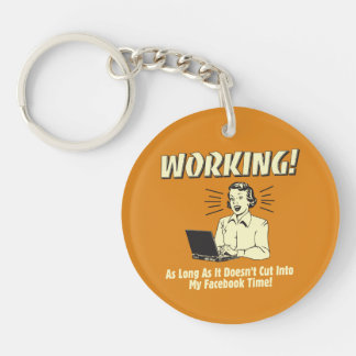 Working: Cut into Facebook Time Key Ring