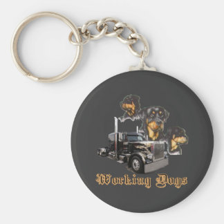Working Dogs Basic Round Button Key Ring