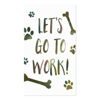 working dogs pack of standard business cards