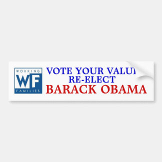 Working Families Party for Barack Obama Bumper Sticker