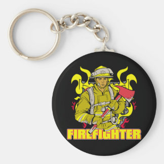 Working Firefighter Key Ring