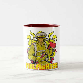 Working Firefighter Two-Tone Coffee Mug