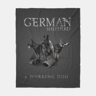 Working German Shepherd Dog  - GSD Fleece Blanket