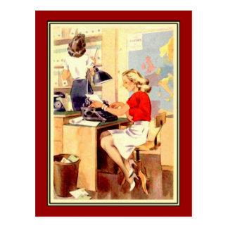 Working Girl Post Card