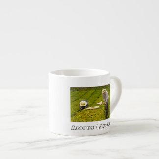 Working in the tea gardens espresso mug