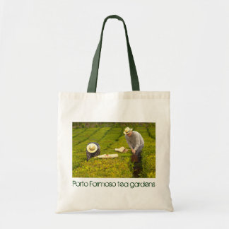 Working in the tea gardens budget tote bag
