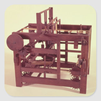 Working model of a loom square sticker