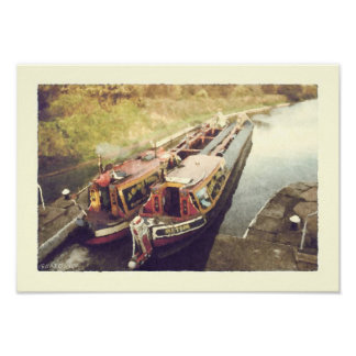 Working narrowboats poster