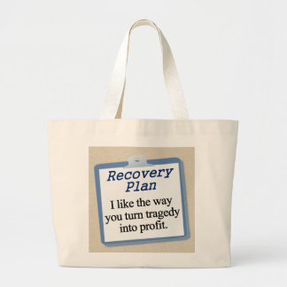 Working on a recovery plan jumbo tote bag