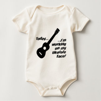 Working on my ukulele face! baby bodysuit