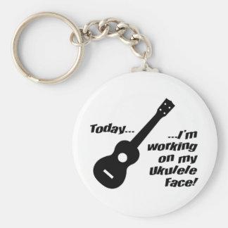 Working on my ukulele face! key ring