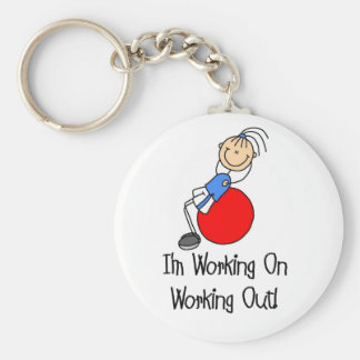 Working on Working Out T-shirts and Gifts Key Ring