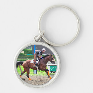 Working Out in Style at Saratoga Silver-Colored Round Key Ring