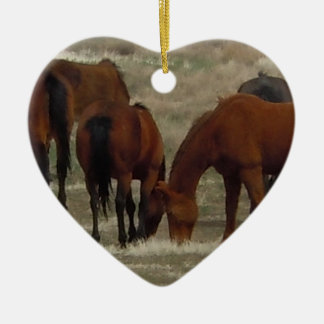 Working Ranch Cow Horses Western Two-sided Christmas Ornament