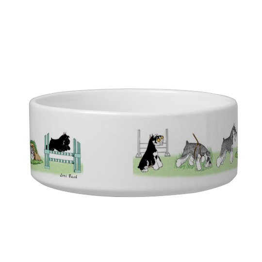 Working Schnauzer Dog Bowl