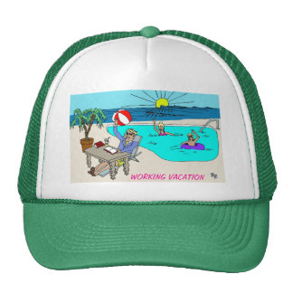 WORKING VACATION HAT
