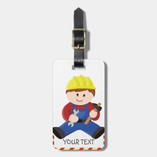 Workman for children luggage tag