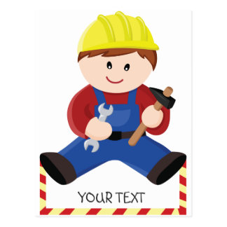 Workman for children postcard
