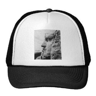 Workmen on George Washington Face Mount Rushmore Trucker Hat