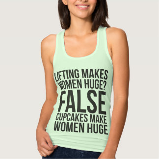 Workout Fitness Motivation - Lifting vs Cupcakes Tank Top