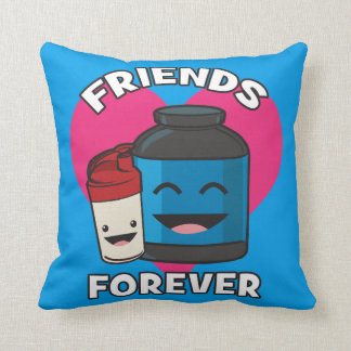 Workout Friends Forever - Cute Kawaii Funny Gym Cushion